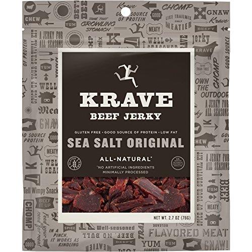 KRAVE Beef Jerky, Sea Salt Original, 2.7 Ounce