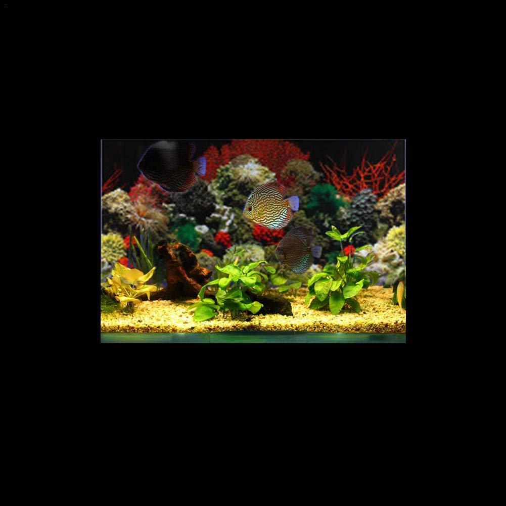 Fondo del Acuario Pegatina de Acuario Impermeable con Coral Acuario pecera Fondo Decorativa de PVC Grueso Coral Mar Vivido Jellyfish Seabed Pegatina Acuario ...