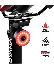 DONPEREGRINO LED Luz Delantera Trasera Bicicleta Potente | Luces para Bicicleta Impermeable y USB Recargable para Seguridad de Ciclismo