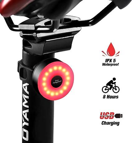 DONPEREGRINO Premium LED Luz Bicicleta Delantera Potente y USB Recargable