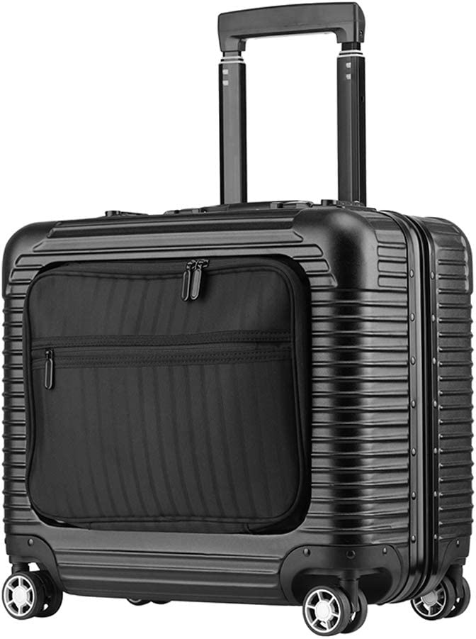 Travel Trolley Luggage Suitcase PC+ABS Aluminum Frame with TSA Lock Rolling Luggage Suitcases with Wheels,18 Inch