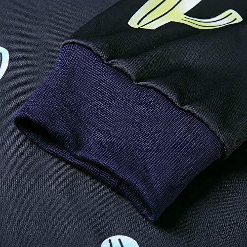 Tops Shirt Sweat Lache Longues Noir Shirt Imprim Manches AIMEE7 Femme Col Mode Rond T vU1qUA7g6