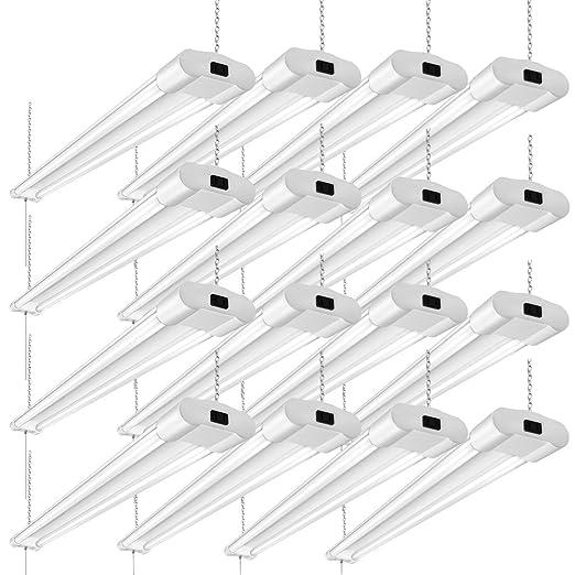 Linkable 40w Utility Led Shop Lights For Garage 4ft 4000lumens 5000k