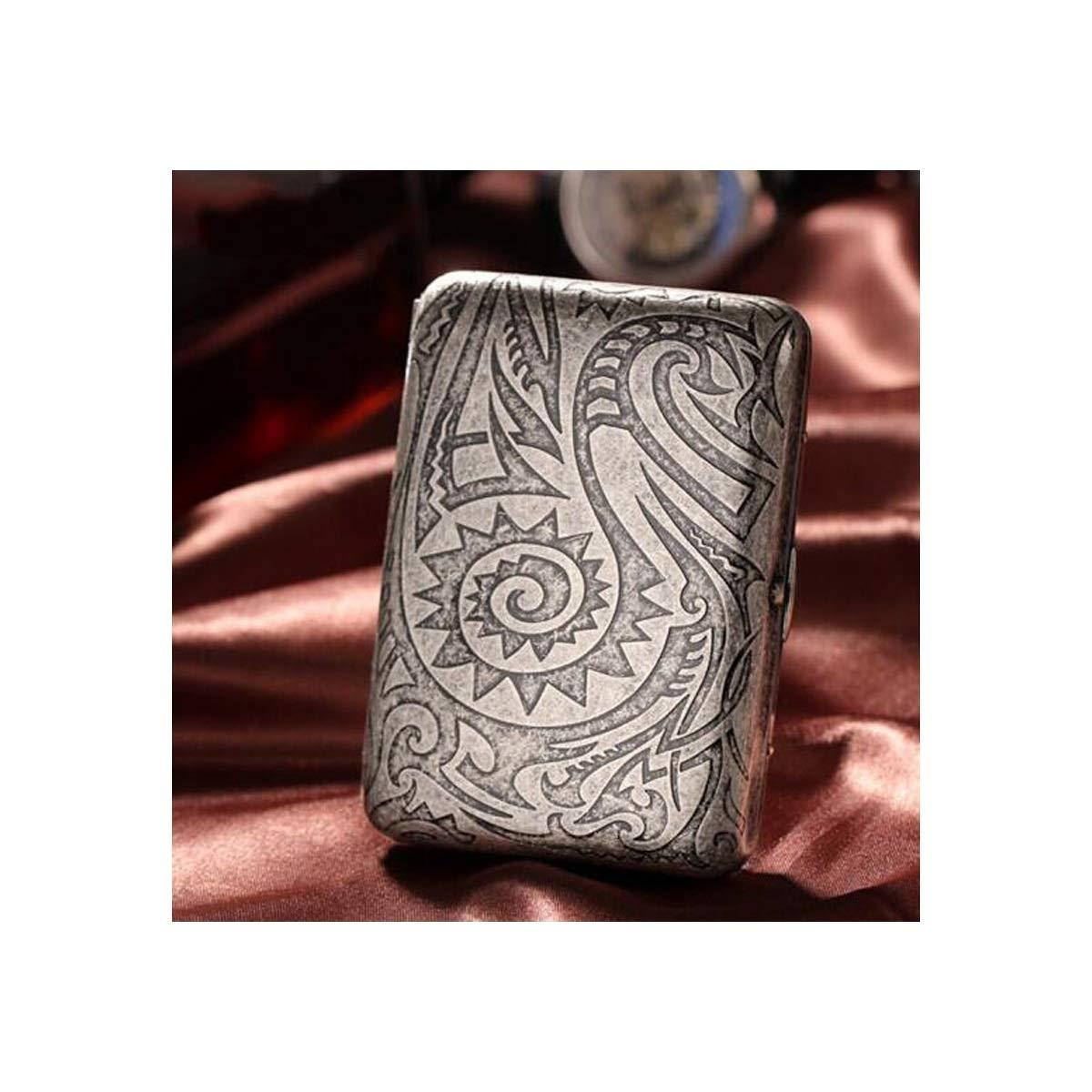 KALMAR Cigarette Holder, Copper Cigarette Case, 16-Piece Metal Cigarette Case, Men's Cigarette Holder Cigarette Box Cigar Protective Cover (Style : D)