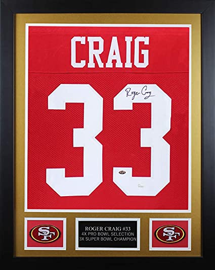 8be9b5c5876 Roger Craig Autographed Red San Francisco 49ers Jersey - Beautifully Matted  and Framed - Hand Signed