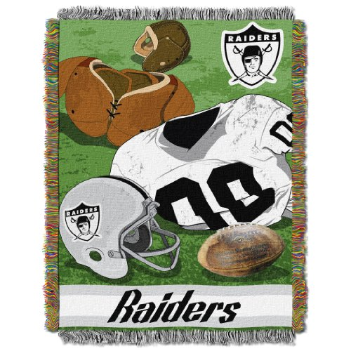 NFL Oakland Raiders Vintage Woven Tapestry Throw, 48