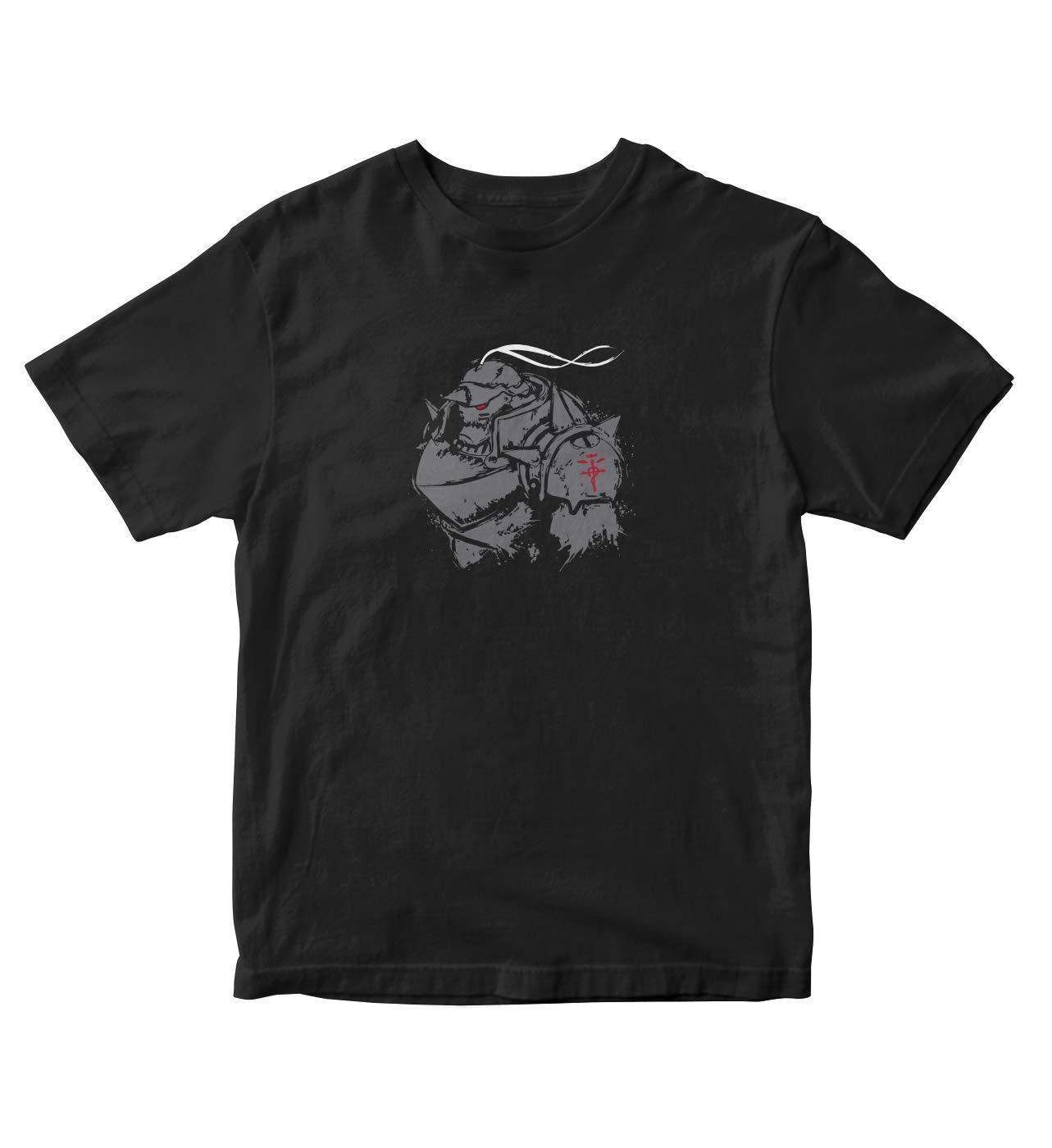 Fullmetal Alchemist Shirt Alphonse Elric Anime Manga S Black Shirt A784