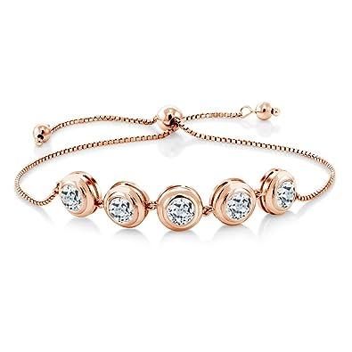 18K White Gold Amazing Elegant 4.50CT Diamond Tennis Bracelet Womens Gift