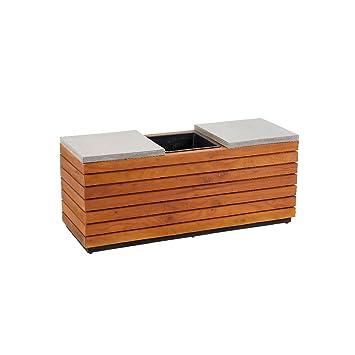 greemotion 130555 2 in 1 Sitzbank mit Pflanzkübel aus Holz, 2 Sitzer ...