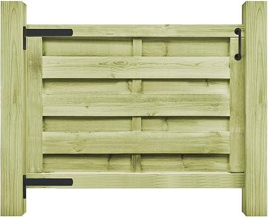 ghuanton Puerta de jardín Madera de Pino impregnada FSC 100x75 cm verdeBricolaje Vallas de jardín Puertas de jardín: Amazon.es: Hogar