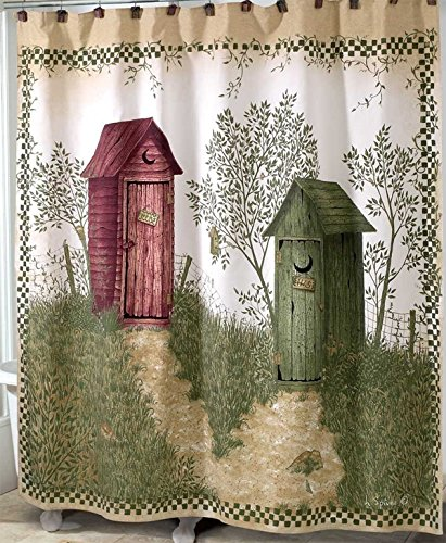 outhouse shower curtain - 2