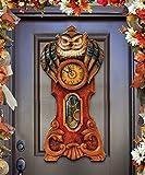 great traditional home office decorating ideas  08153311H0 Halloween Owl Clock Door Hanger