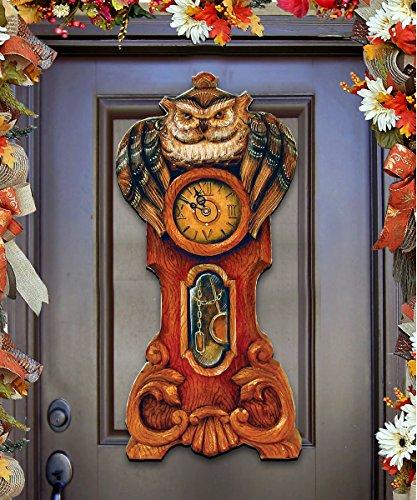 08153311H0 Halloween Owl Clock Door Hanger