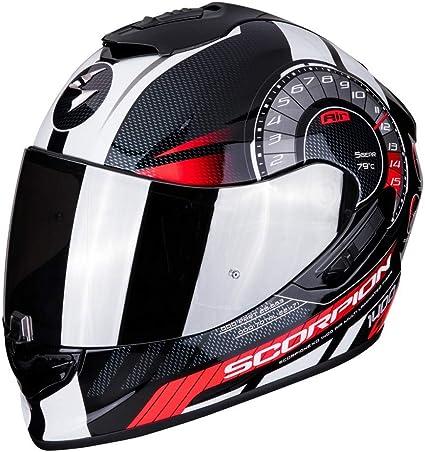Scorpion EXO-1400 Torque - Casco integral de fibra de vidrio para moto, con visera interior SpeedView solar retráctil, protección exterior TCT (L): Amazon.es: Deportes y aire libre