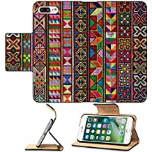 MSD Premium Apple iPhone 7 Plus Flip Pu Leather Wallet Case Cross stitch of Hill tribe people in Northern Thailand IMAGE 21358128