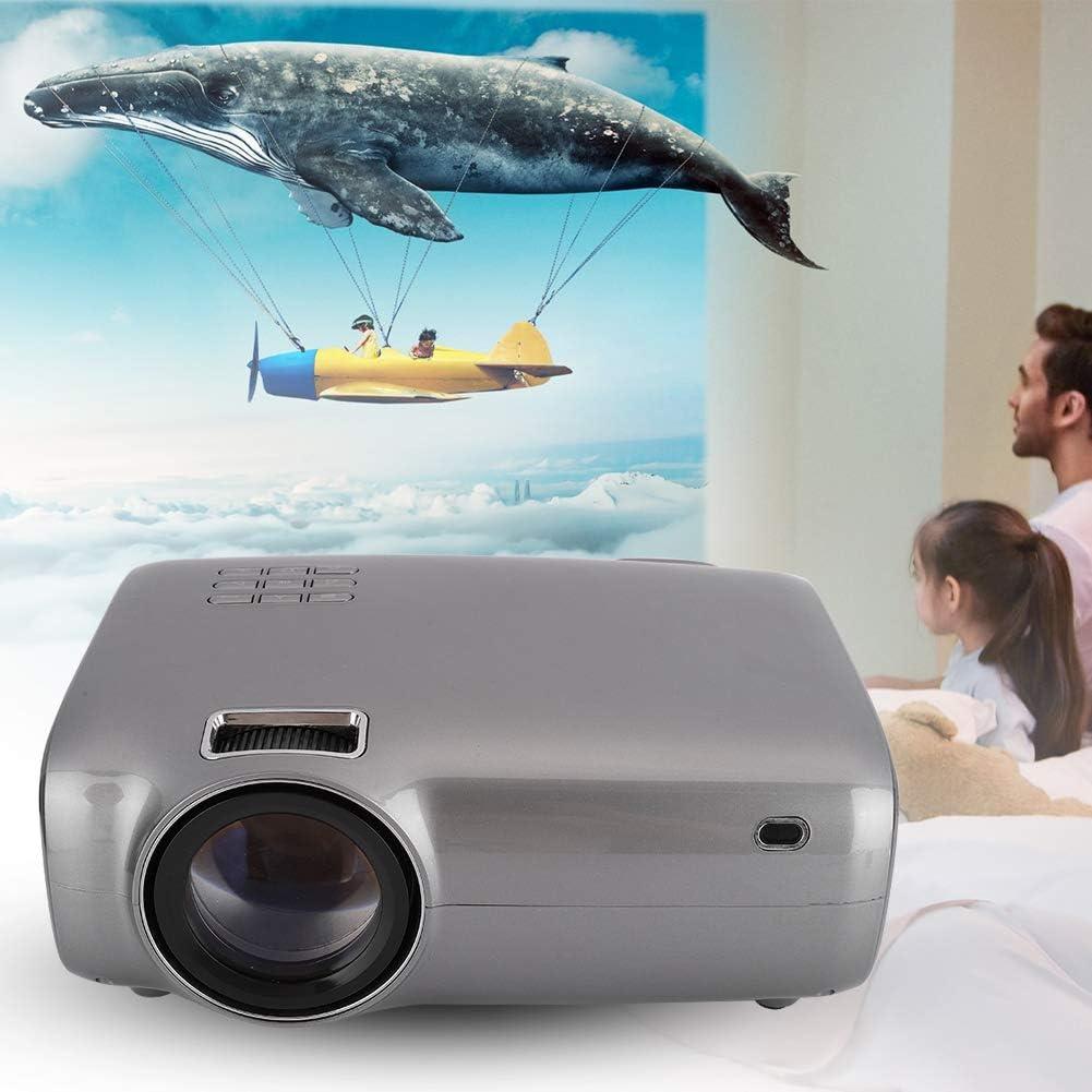 Supporto 1920x1080P Videoproiettore HD Nativo 1280x720P 5000LM AV VGA USB Memory Card HDMI LED Multimedia Player Home Theater Player Proiettore per casa//Ufficio//Scuola Unione Europea