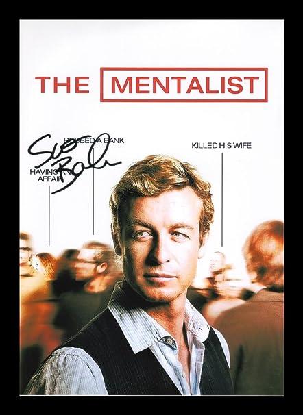 Superb Quality The Mentalist Simon Baker photo print poster pre signed