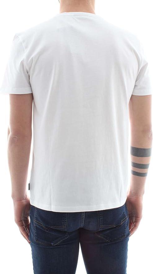 Jari Calvin Klein Relieve Camiseta Logotipo Cuello Redondo Hombres, Blanco Perfecto: Amazon.es: Ropa y accesorios