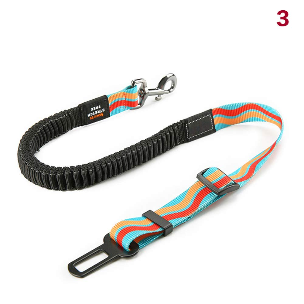 Dastrues Adjustable Dog Seat Belt for Car Dog Car Harness with Bungee Buffer Safety Elastic Leads