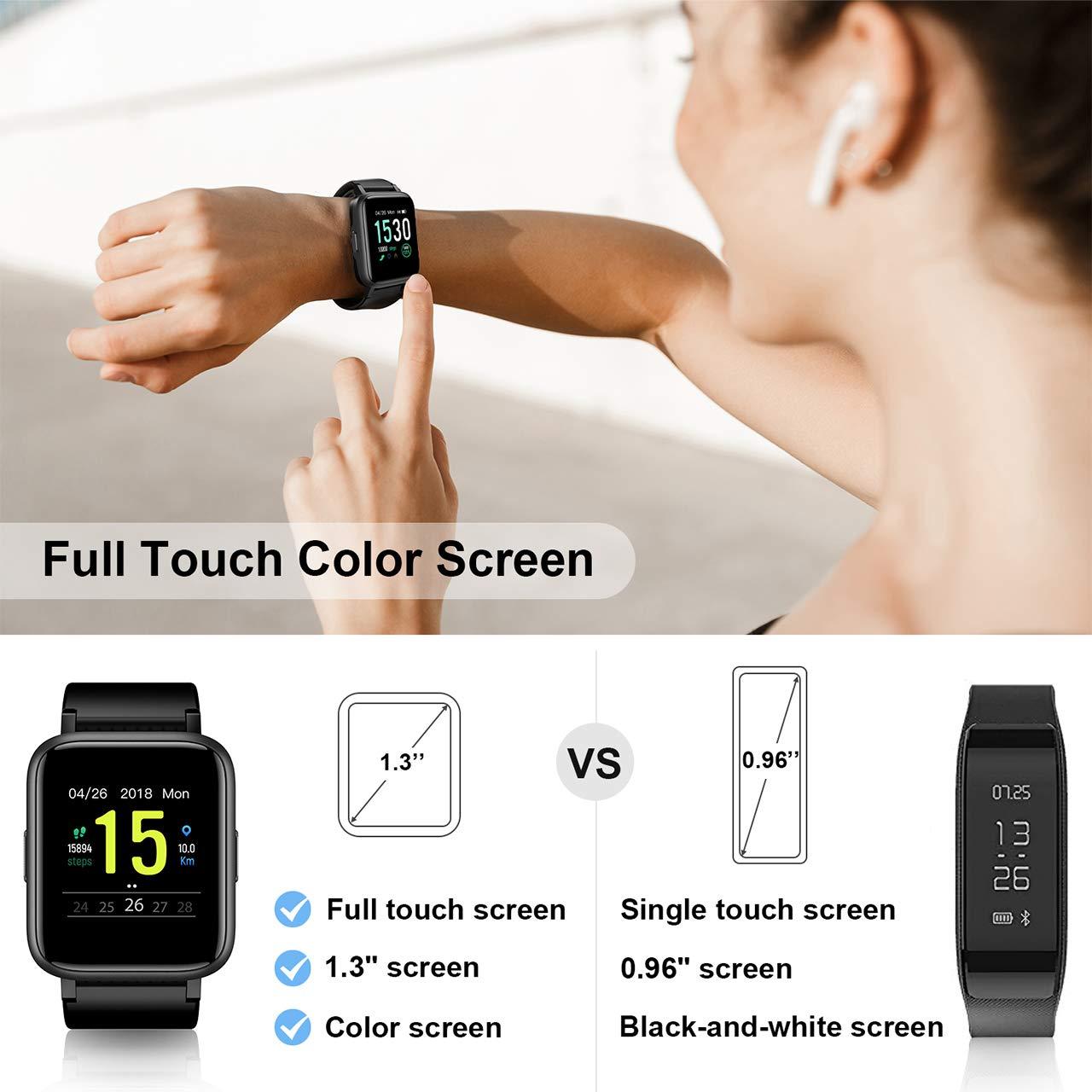 GRM Fitness Tracker con monitor de frecuencia cardíaca, reloj de ...