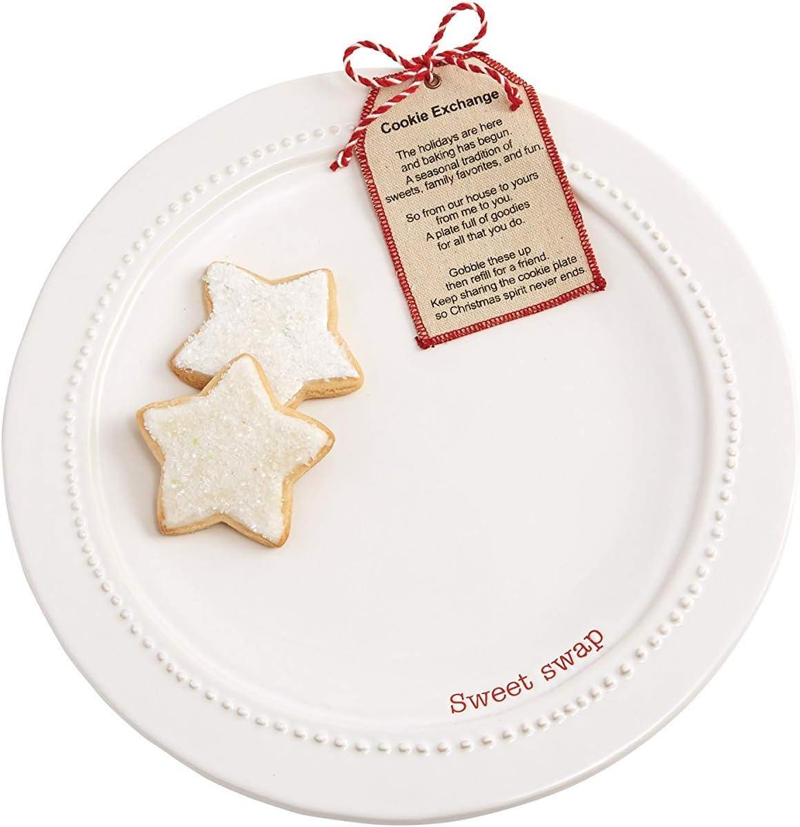 Mud Pie Sweet Swap Cookie Exchange Holiday Plate Set