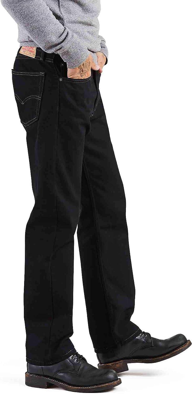 Levi's 505 Jean pour Homme Coupe Normale Taille L Noir