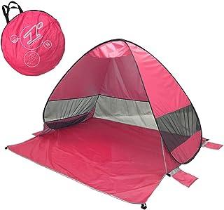 THZCMY Tente de Plage 2 Personnes Automatique Pop Up Easy Replier Le Soleil avec 100% UV protégé Imperméable