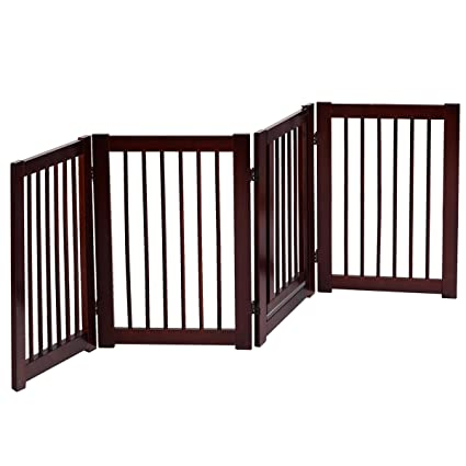Beau Giantex Pet Gate With Door Wooden Pet Playpen Adjustable Panel Safety Gate,  Cerise Finish (