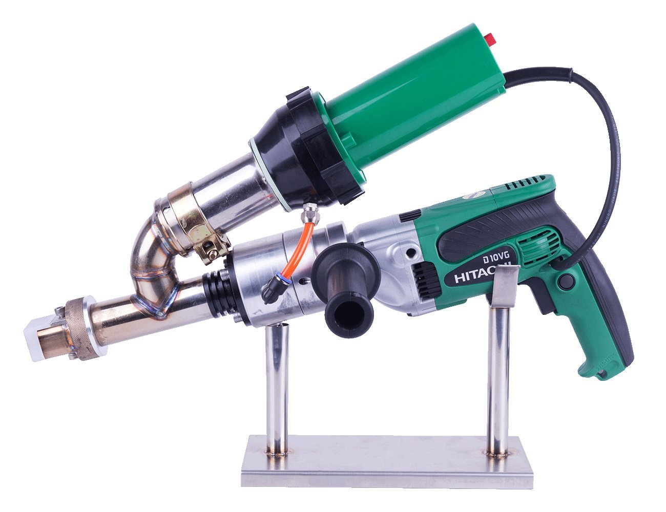 Mini hand extrusion welder gun for welding HDPE PP PVDF sheet (LST600E(Hitachi Auger))