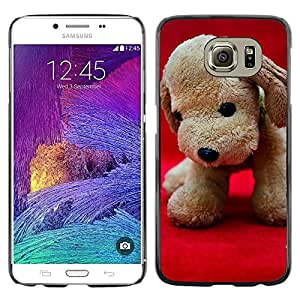 GoGoMobile Slim Protector Hard Shell Cover Case // M00119261 Plush Toy Dog Puppy Soft Toy Teddy // Samsung Galaxy S6 (Not Fits S6 EDGE)
