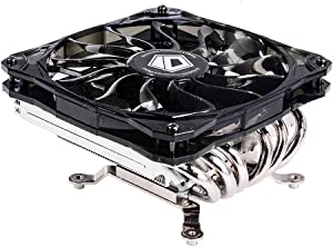 ID-COOLING IS-60 TDP 130W Low Profile CPU Cooler with 6 Heatpipes, 120mm Fan, Compatible with Intel LGA1151/1150/1155/1156 & AMD AM4/FM2+/FM2/FM1/AM3+/AM3/AM2+/AM2
