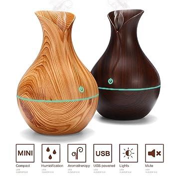 Amazon com : Z-Point Essential Oil Diffuser 130ml Wood Grain