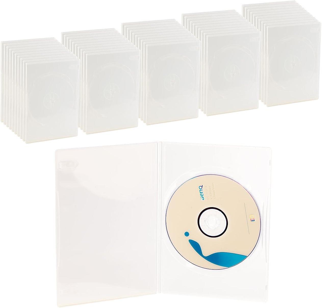 DVD Slim (7 mm) único DVD caja de 50 unidades, transparentes ...
