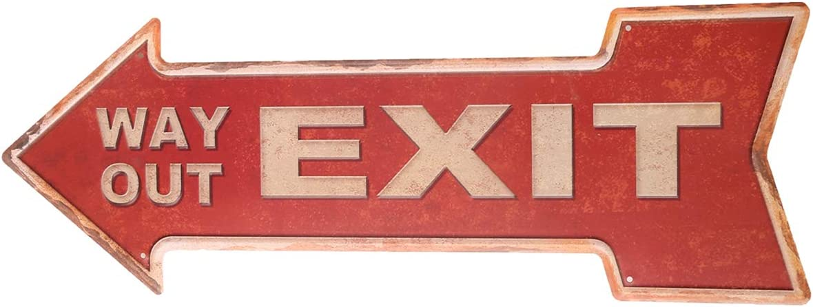 HANTAJANSS Street Signs with Way Out Retro Exit Signs for Bar Decoration