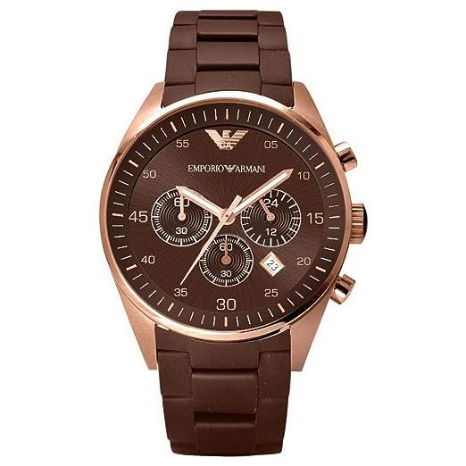 a4929ca07cf2 Emporio Armani AR5890 - Reloj cronógrafo de cuarzo unisex con correa de  caucho