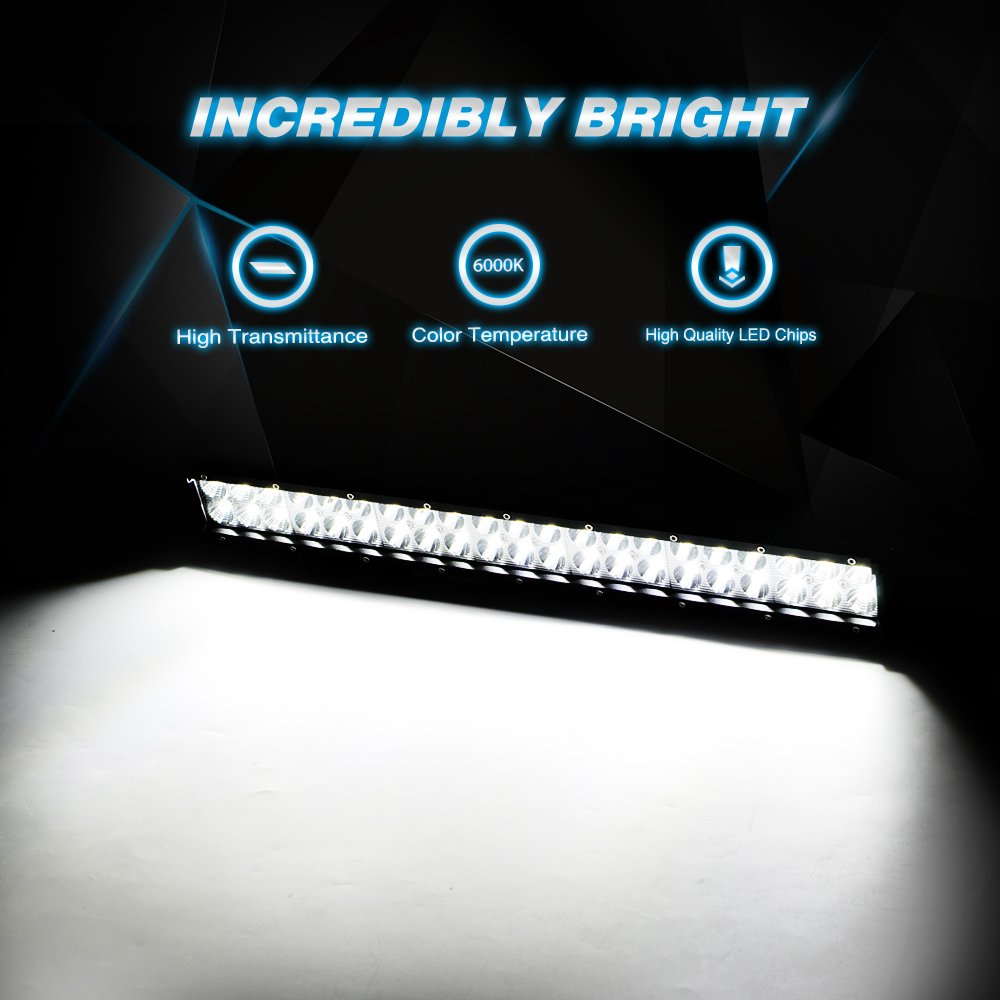 61td N5sp3L._SL1000_ amazon com led light bar nilight 20 inch 126w led work light spot  at nearapp.co