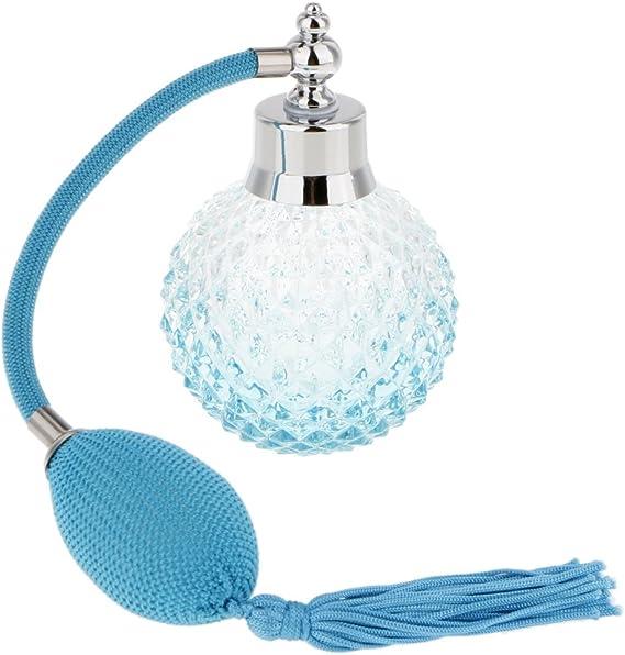 Accesorios Decorativos Botella Perfume Cristal Vidrio con Tubos Atomizador Aerosol Retornables - B: Amazon.es: Hogar