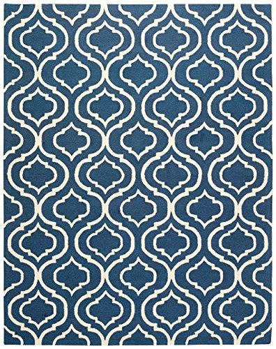 Stone & Beam Contemporary Hourglass Wool Rug, 8' x 11', Navy by Stone & Beam