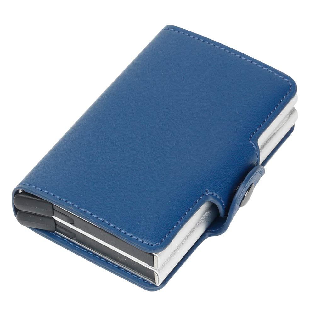 Azul Tarjetero autom/ático de identificaci/ón por radiofrecuencia para Hombre Azul Geurzc - CCH03-lanse