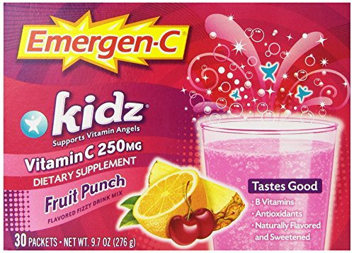 Emergen-C Kidz Fruit Punch, 30-comte, poids net. 9,7 oz