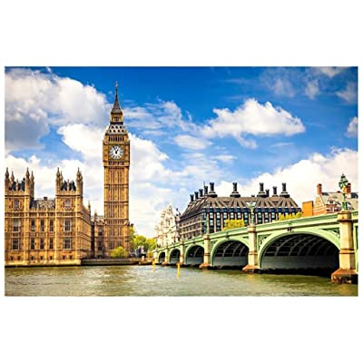 1000 Piece Puzzles for Adults, United Kingdom Big Ben, Micro Landscape Jigsaw Puzzle Home Decorations, Educational Intellectual Toy Interesting Toys Personalized Gift: Toys & Games