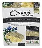 Organic Traditions Cold Milled Chia & Flax Seed Powder (8 oz)