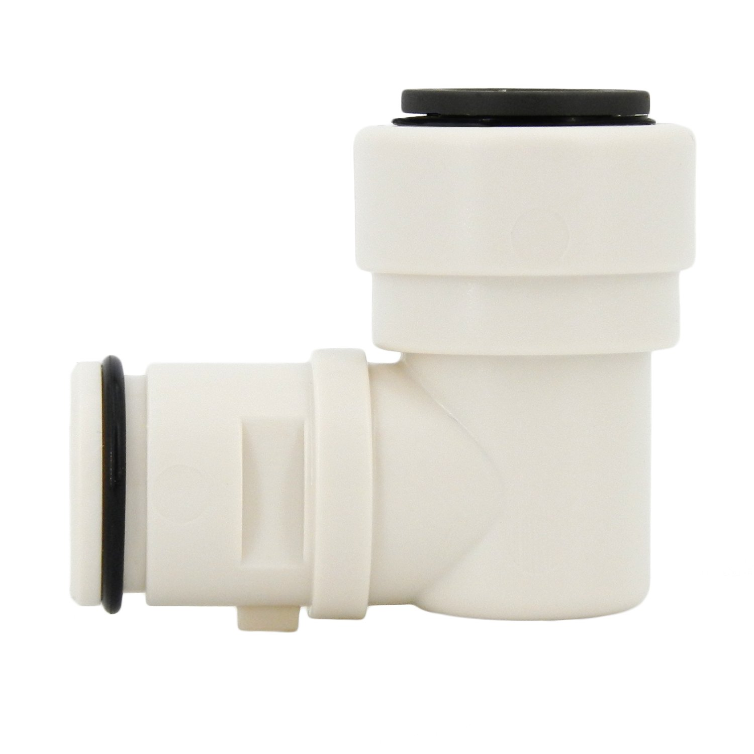 Hydro-Logic 1/2'' Quick Connect Feed Fitting for Merlin GP & Evolution-RO1000, White