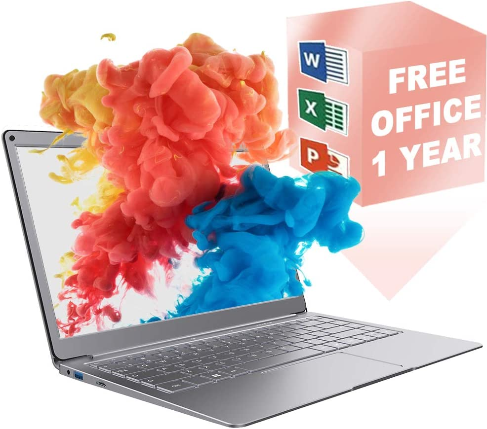 Jumper Laptop 13.3 inch with Microsoft Office 365 FHD Traditional Laptop Computers 4GB 64GB Windows 10 , USB 3.0, Dual Band WiFi, Support 128GB Micro SD and 1TB SSD Expansion