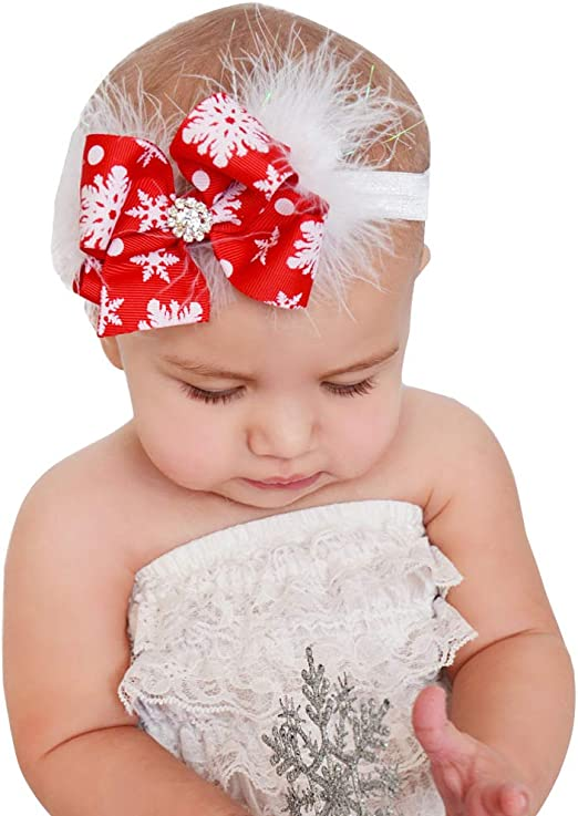 Baby Girls Sequins Hair Accessories Newborn Children Bow Headband Hairband Gift