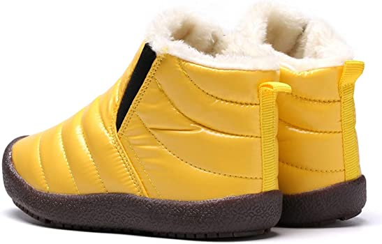 ZHENZHONG Kids Warm Faux Fur Pink Winter Snow Ankle Boots Booties Shoes for Girls Boys,Size 7M 7M Big Kid Toddler