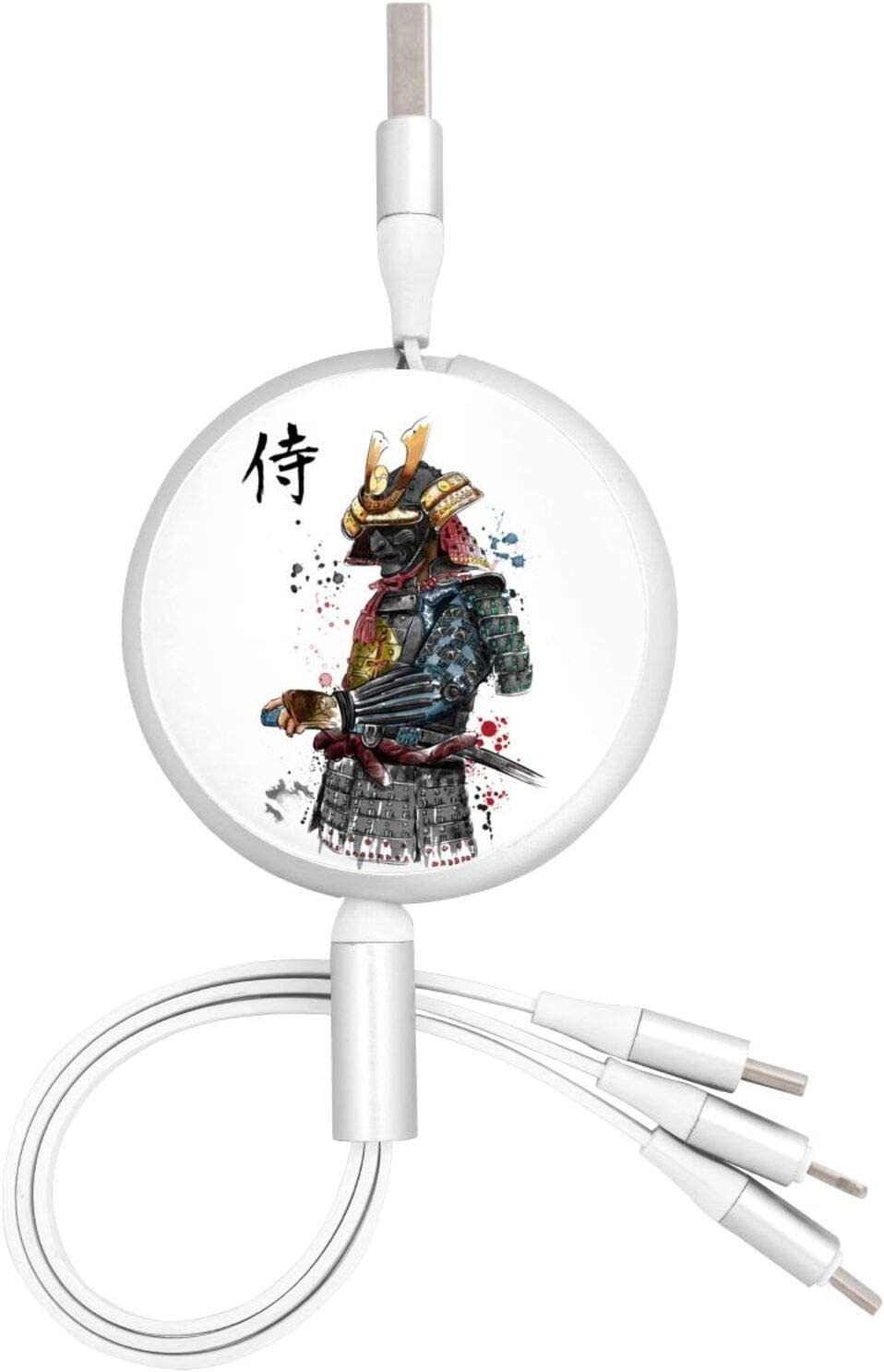 Kitsune Fox Kamen Rider 3 in 1 Retractable Multiple Charging Cable 3.0a Fast Charger Cord with Phone//Type C//Micro USB Charge Port Adapter Compatible with Cell Phones Tablets and More