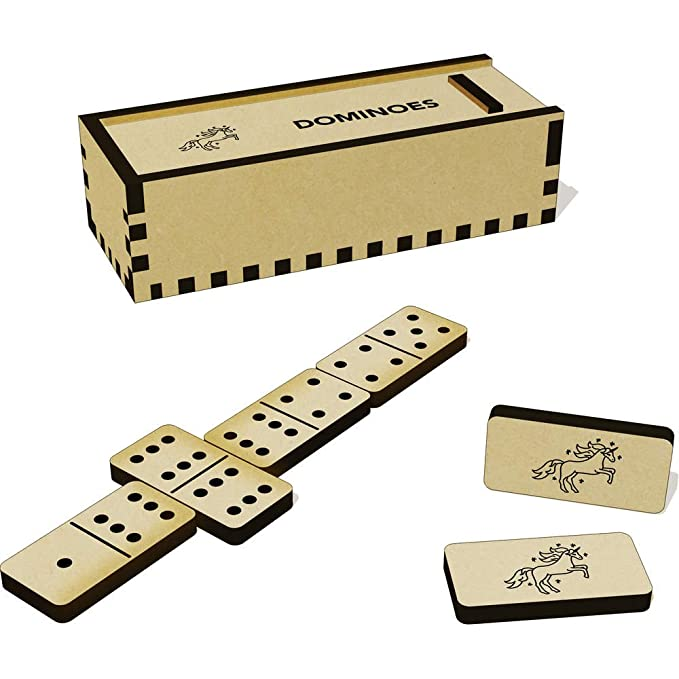 DM00016429 /'Beautiful Unicorn/' Domino Set /& Box