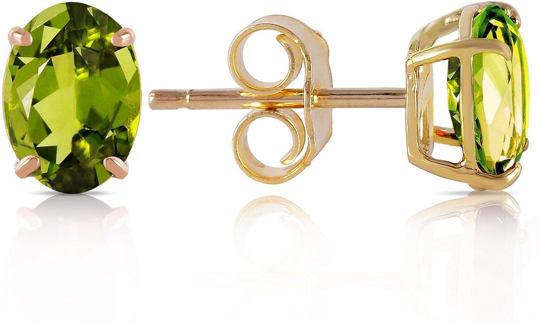 ALARRI 1.8 CTW 14K Solid Gold Love Essentials Peridot Earrings