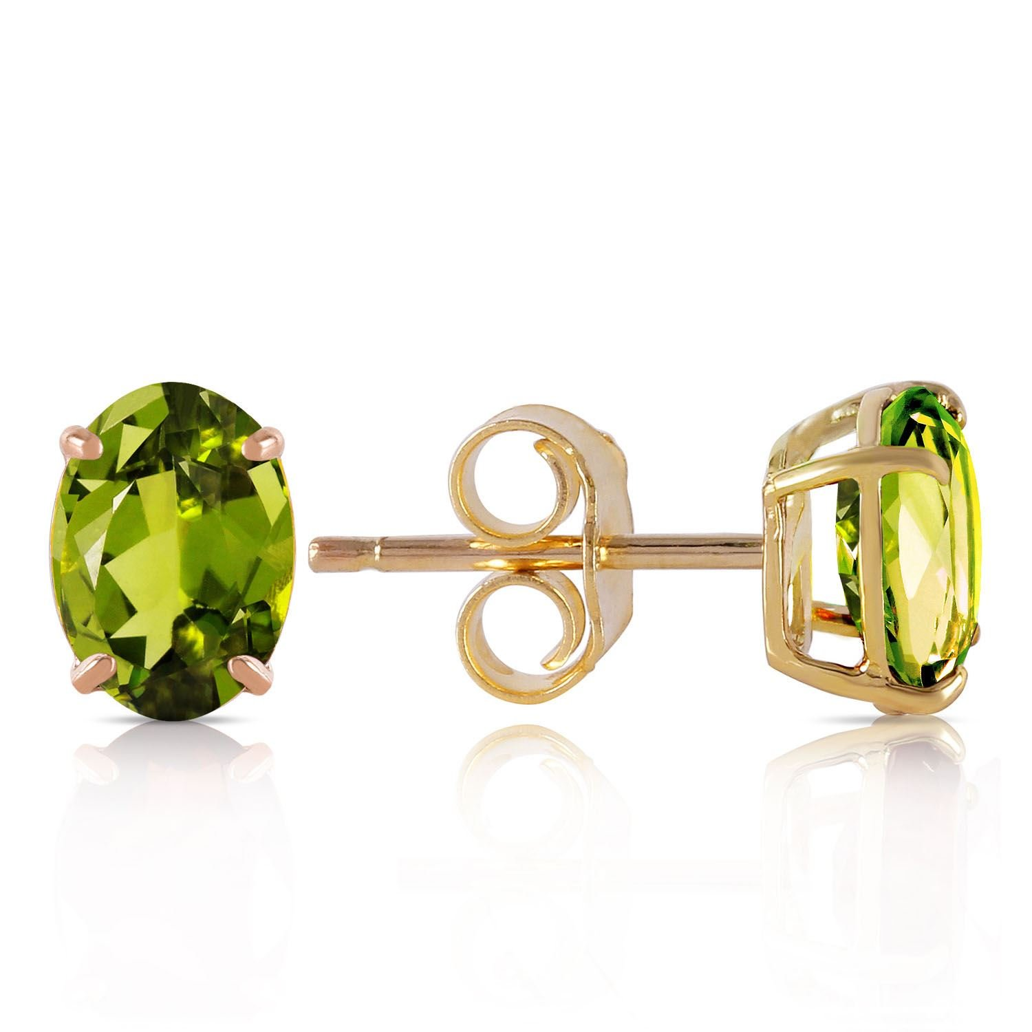 ALARRI 1.8 CTW 14K Solid Gold Love Essentials Peridot Earrings